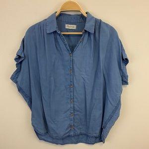 Madewell Central Shirt Chambray Boxy cut Sz L